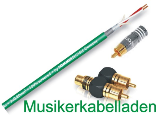 Sommer Cable ONA5 Y-Subwooferkabel SC-Onyx Audio-//Lautsprecherkabel Cable Cinch