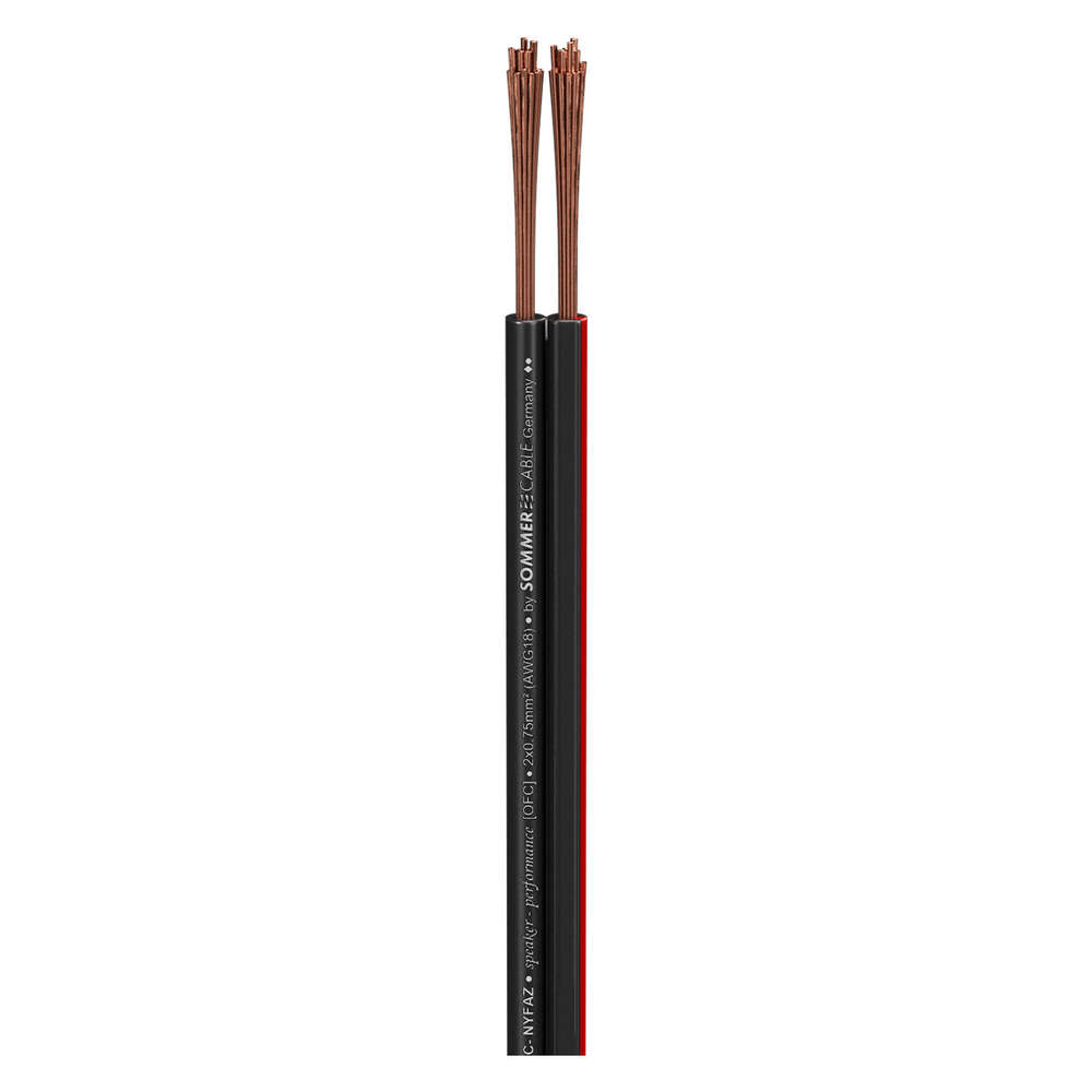 Sommer Cable Installations Lautsprecherkabel OFC 2 x 0,75mm² 420-0075-SW