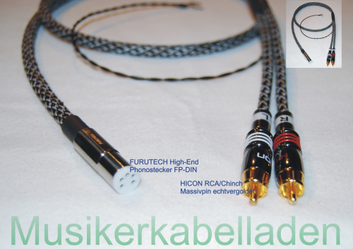 SOMU-Real 1 Sommer Cable Epilogue High-End Phonokabel DIN-Phonostecker / RCA/Cinch