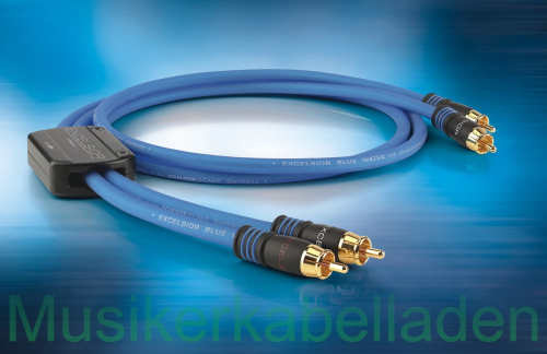 Sommer Cable EXCELSIOR® BlueWater Highend RCA/Cinch-Kabel (Stereo-Paar)